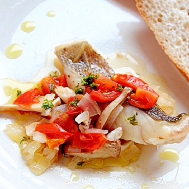 いさきの塩麹蒸し~イタリアン風~