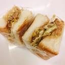 簡単!豚こまとキャベツのサンドイッチ