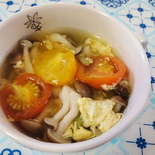 プチトマトのコンソメスープ☆