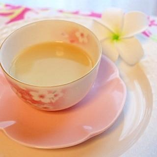温まる*ほうじ茶黒蜜オレ*