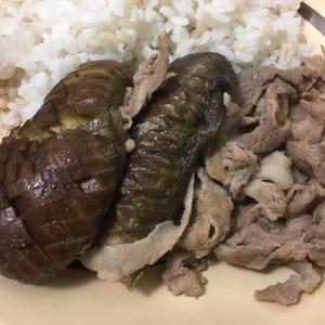 スッキリ豚こま肉となすの煮びたし