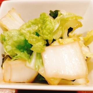 ポリ袋で!白菜の酢の物