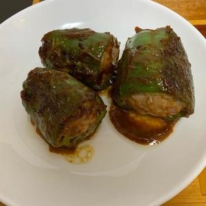 簡単&失敗しない!丸ごとピーマンの肉詰め☆味噌煮