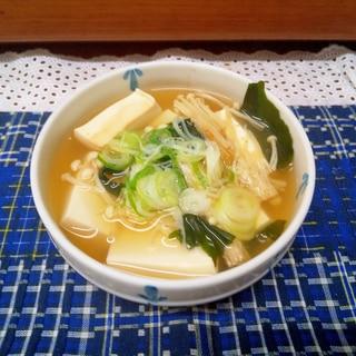 電子レンジで湯豆腐