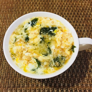 ごま香る‼️ 卵とわかめの中華スープ