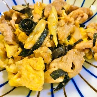 豚肉ときくらげの卵炒め(ムースーロー)