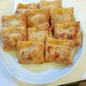 レンジで簡単!!油揚げのチーズ入り肉詰め