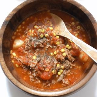 簡単!牛バラ切り落としのトマト煮込み