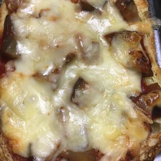 茄子でピザ風トースト