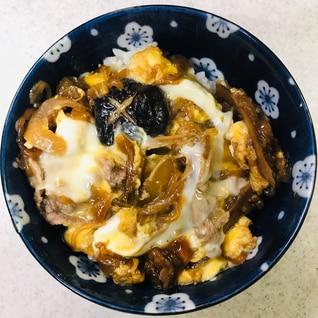 昨夜のすき焼き卵とじご飯