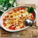 おつまみ♛豆腐のトマトキムチーズ焼き