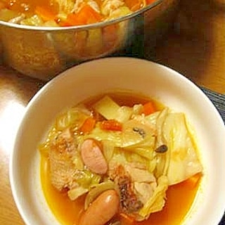 トマトで作る★トマト鍋