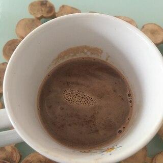 チョコレート、ココナッツミルクと生クリームでココア