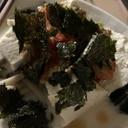 簡単豆乳スープのしめじ納豆キムチのっけ湯豆腐