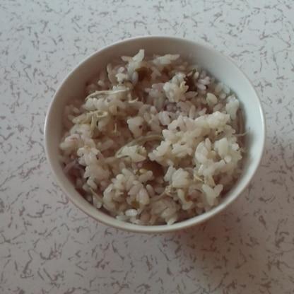雑穀米で作ったよ♪栄養も摂れるご飯美味しかったよ❤ ご馳走様でした~