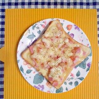 イチジクとベーコンのチーズトースト♪