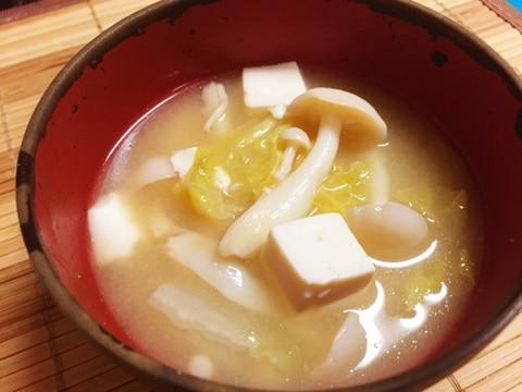 白菜&ブナピー&豆腐の味噌汁