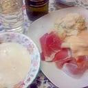 白アスパラクリームスープ