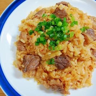 焼肉のタレで焼肉キムチ炒飯
