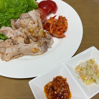 豚ロース厚切りで作るサムギョプサル★2種のソース