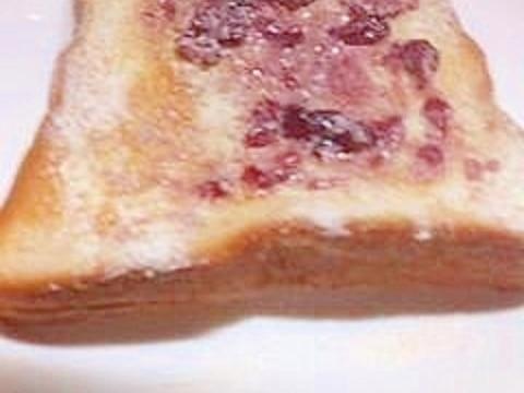 白ココア&ブルーベリーをのせてトースト♪