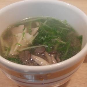 ★☆★ 水菜とシメジのスープ ★☆★