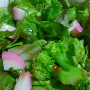 サニーレタスとかまぼこの簡単サラダ