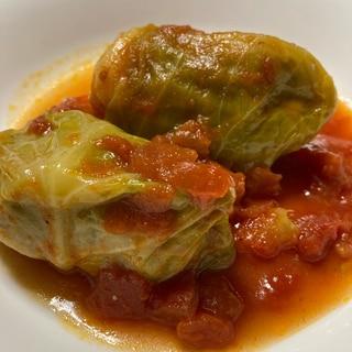 ホットクックで簡単♡トマトソースのロールキャベツ