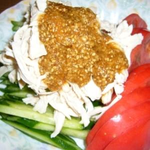 鶏胸肉で簡単に♪棒棒鶏&手作りごまダレ