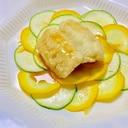 ズッキーニカルパッチョと鱧のレモンバターソテー