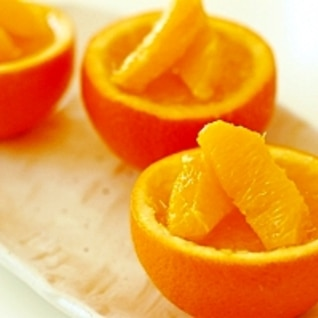 粉寒天でつくるぷるぷるオレンジゼリー