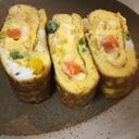 チーズ入り♪カラフル卵焼き