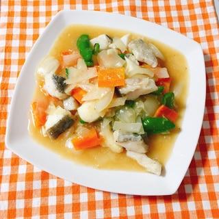 低脂質☆タラの魚で八宝菜