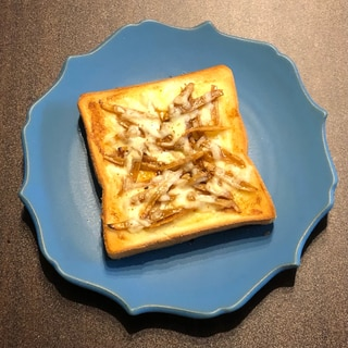 きんぴらごぼうリメイク*きんぴらチーズトースト