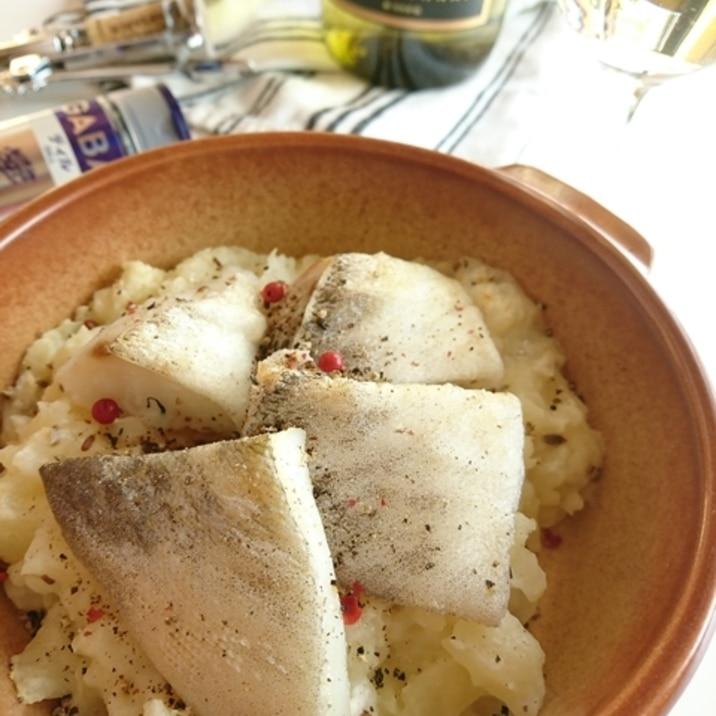 塩タラとポテトのグリル ディル風味