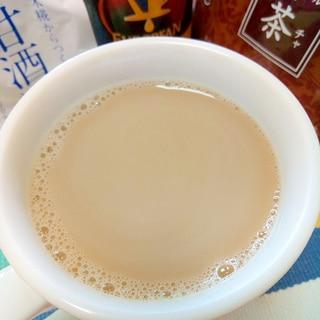 ホッと☆甘酒入りプーアールカフェオレ♪