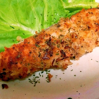 簡単絶品♪鮭のパン粉焼き