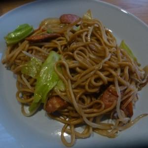 チャンポン麺の焼きそば