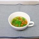 なめことレタスのスープ