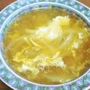 玉ねぎと椎茸と玉子のスープ