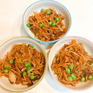 ほっとする味♪切り干し大根と人参と椎茸の炒め煮
