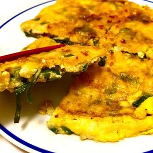 簡単腸活★オートミールのチーズチヂミ