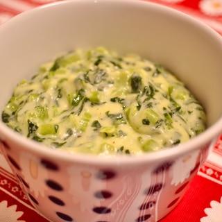 小松菜・豆乳で作るクリームドスピナッチ風