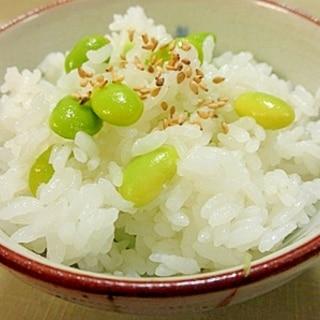 塩茹でした枝豆を使って☆簡単混ぜるだけの枝豆ご飯