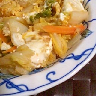 便秘解消☆白菜とにんじんの卵とじ