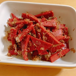 滋賀近江の郷土料理赤こんにゃくの煮物✰