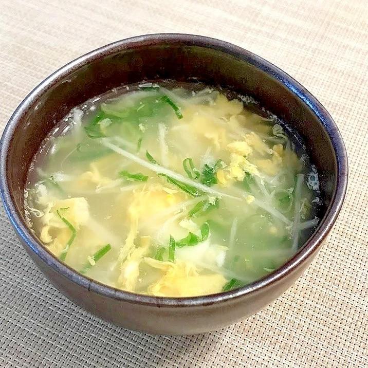 とろっとろ!長いもと卵のスープ
