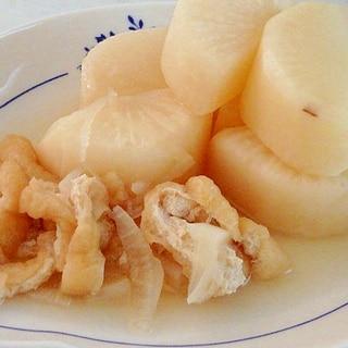 白だしで簡単★大根と油揚げの煮物