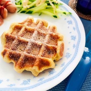 ★朝食★バナナワッフル