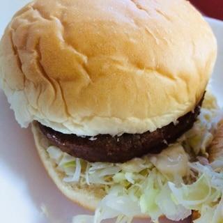 キャベツたっぷりハンバーガー